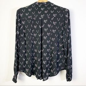 Anthropologie Tops - Maeve Conversationalist Cat Print Collared Blouse